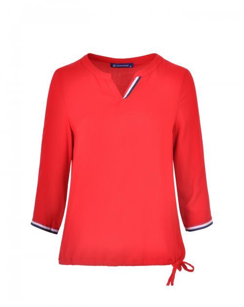 Navigazione Damen-Shirt mit Kerb-Ausschnitt