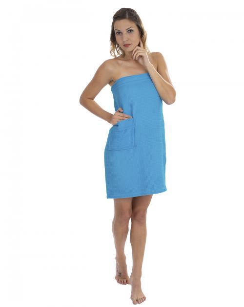 WeWo Fashion Saunakilt Damen Piqué Übergröße
