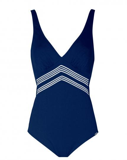 Charmline Shapewear Badeanzug, Marineoptik.